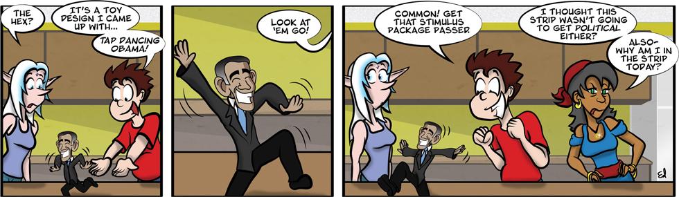 Tap dancin' Obama